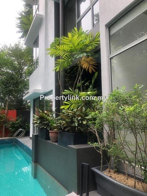HPY 3-storey townhouse, KLCC, Off Jalan Ampang, Kuala Lumpur, Malaysia, For Rent 出租